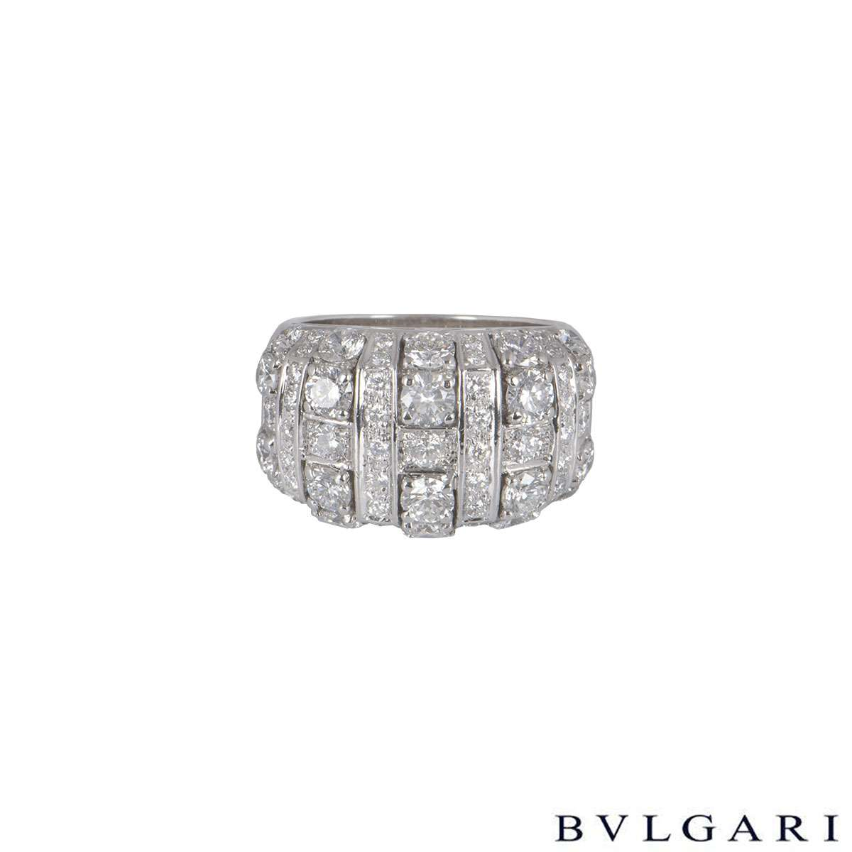 Bvlgari White Gold Diamond Ring